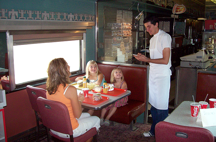 1950's Train Diner at 1880 TOWN