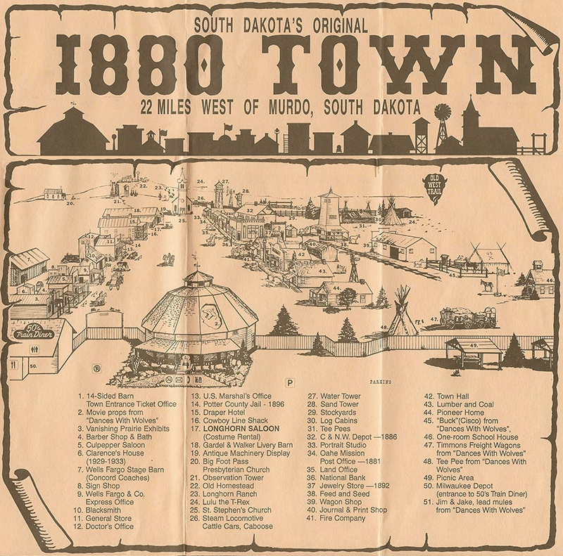 Map of 1880 Town