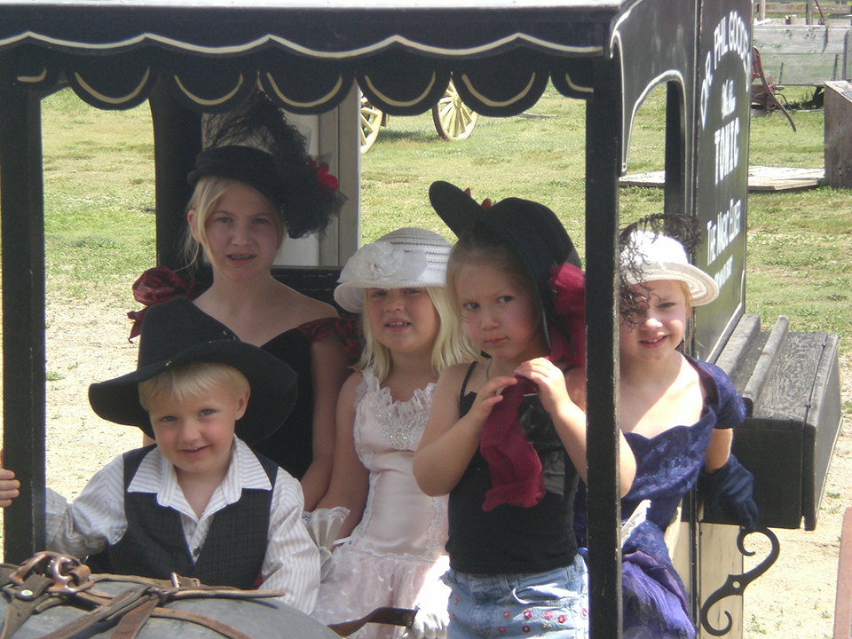 1880 Town Costume Rentals - Group in a buggy